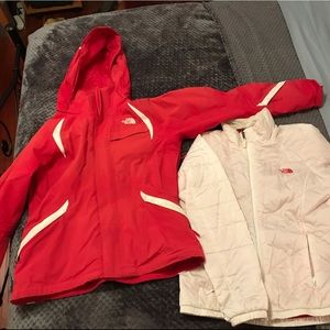 North Face ski jacket with down snap out liner